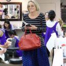 Sharon Stone at nail salon in Los Angeles - 454 x 681