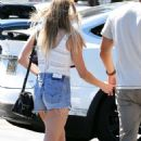 LeAnn Rimes in Jeans Shorts Leaving the Nobu in Malibu - 454 x 742