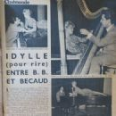 Brigitte Bardot - Cinemonde Magazine Pictorial [France] (9 January 1958) - 454 x 605