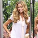 Denise Richards brings her kids to The Grove to shoot an interview with 'Extra' on June 13, 2013