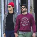 Zachary Quinto and Miles McMillan take their dogs for a walk in the East Village neighborhood of New York City NY on October 17, 2016 - 454 x 572