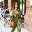 Lily Aldridge in Green Outfit – Out in New York City - 454 x 662