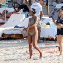 Gabrielle Union in Green Bikini at a beach in Ibiza - 454 x 303