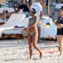 Gabrielle Union in Green Bikini at a beach in Ibiza