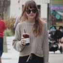 Dakota Johnson in Black Skirt out in Los Angeles