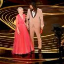 Helen Mirren and Jason Momoa At The 91st Annual Academy Awards - Show - 454 x 328