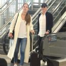 Ana Ivanovic and Bastian Schweinsteiger – Arrives at airport in Sydney - 454 x 550