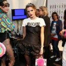 Bella Thorne attends Moschino Spring Summer 17 Menswear and Women's Resort Collection Fashion Show Los Angeles Ca June 10, 2016