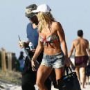 Torrie Wilson in Bikini on Miami Beach