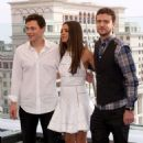 "Justin Timberlake and Mila Kunis were spotted at a photo call for ""Friends with Benefits"" in Moscow t"