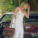 Amber Heard in White Slip Dress at the Beverly Hills Hotel in LA