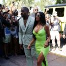 Kim Kardashian and Kanye West at 2 Chainz wedding in Miami