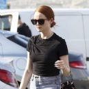 Madelaine Petsch – carries a Prada purse while shopping in LA - 454 x 643