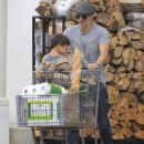 Olivier Martinez and his son Maceo are spotted out grocery shopping at Bristol Farms in West Hollywood, California on April 10, 2016 - 444 x 600