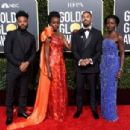 Ryan Coogler, Danai Gurira, Michael B. Jordan, and Lupita Nyong'o At The 76th Golden Globe Awards (2019) - 454 x 305