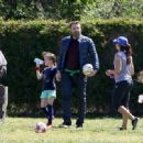 Ben Affleck spotted at his daughter  soccer game on Saturday April 1st, 2017 in Santa Monica, CA - 454 x 332
