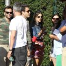Alessandra Ambrosio and her fiance Jamie Mazur celebrate the July 4th Independence Day holiday at a private house party in Malibu