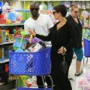 Kris Jenner and Boy Toyb out shopping for toys for Easter at Toys 'R Us in Los Angeles, California on April 1, 2015