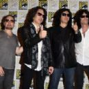 Kiss attends the Scooby-Doo! and Kiss: Rock and Roll Mystery Press Room during Comic-Con International 2015 at the at Hilton Bayfront on July 9, 2015 in San Diego, California. - 454 x 300