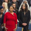 Queen Latifah of United States and Steven Tyler of United States attend the Nobel Peace Prize ceremony to honour this year Nobel Peace Prize winners Kailash Satyarthi and Malala Yousafzai, at Oslo City Hall on December 10, 2014 in Oslo, Norway. - 454 x 491