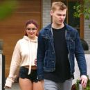 Ariel Winter in Denim Shorts Out house hunting in Studio City
