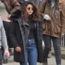Priyanka Chopra and Marlee Matlin – On 'Quantico' Set in Dublin - 454 x 774