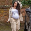 Casey Batchelor – Shows off her growing baby bump spotted out in Hertfordshire - 454 x 639
