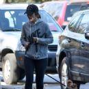 Minka Kelly – Walking Her Dogs in Los Angeles 1/1/ 2017 - 454 x 588