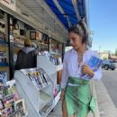 Lexy Panterra – Shops at a newsstand in Woodland Hills