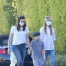 Jennifer Garner – With her kids in Brentwood