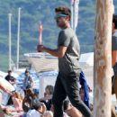 Zac Efron celebrating America's birthday at Club 55 in Saint Tropez, France (July 4)