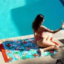 Blanca Blanco – In bikini by her pool in West Hollyowood
