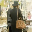 Rosie Huntington-Whiteley was seen holding her pregnant belly while shopping at ABC Carpet & Home store in New York City, New York on April 6, 2017 - 425 x 600