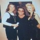Eva Herzigova and Tico Torres with Brooke Shields