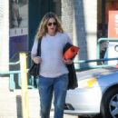 Drew Barrymore attends yoga class