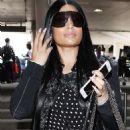 Nicki Minaj at LAX airport in Los Angeles - 454 x 545
