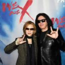 Yoshiki and Gene Simmons attend the premiere of Drafthouse Films'