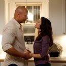 Dwayne Johnson and Kristin Davis