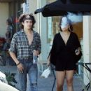 Stella Hudgens and boyfriend Eric Unger out in Studio City - 454 x 641