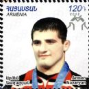 Armenian male sport wrestlers