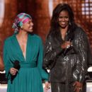 Alicia Keys and Michelle Obama At The 61st Annual Grammy Awards - Show - 399 x 600