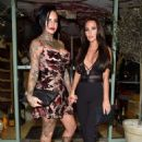 Jemma Lucy and Yazmin Oukhellou – Leaving San Carlo Restaurant in Manchester - 454 x 628