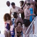 Rihanna: Night Swim Sexy in Barbados!