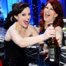 Mad Men's Elisabeth Moss and The Office's Kate Flannery grabbed the booze inside L.A.'s Shrine Auditorium at the 19th Annual Screen Actors' Guild Awards Jan. 27.  ADVERTISEMENT More from Us      Kate Middleton's Fashionable Baby BumpStylelist     The Hott - 428 x 560