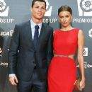 Picture perfect: Cristiano Ronaldo and Irina Shayk put on a united front at the Professional Soccer League (LFP) Awards held at Principe Felipe auditorium in Madrid, Spain on Monday night