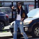 Jessica Gomes – Arriving at a friend's Memorial Day barbecue in LA - 454 x 565