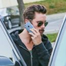 Scott Disick was spotted leaving a meeting with his friend in Los Angeles, California on December 30, 2015