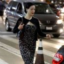 Dita Von Teese at Los Angeles International Airport in LA
