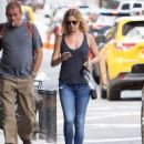 Emily VanCamp in Jeans out in New York City - August 23, 2016
