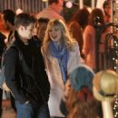"""Emma Stone with Andrew Garfield on the set of """"The Amazing Spider-Man 2"""" in NYC (April 16)"""